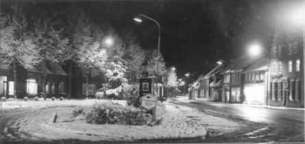Plein 1940 in een winters kleed gehuld.