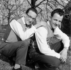 Foto rechts: Rien Osnabrugge en Jan Diteweg