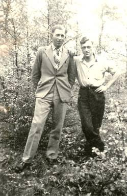 Wout Veldhuizen en Geert Wesselink, 1945