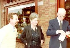 Gert, Jo en Arie Inkenhaag, 1983