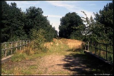Tracé zonder rails over de brug bij de Lunterse beek.